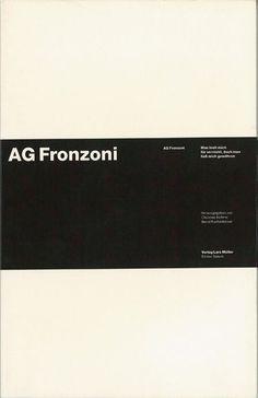 AG Fronzoni Designphilosophie — Lars Müller Publishers