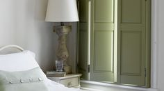 These wooden shutters are made of solid hardwood and a best seller for those who want to keep a traditional Victorian look, Solid window shutters are perfect for room darkening. Bedroom Shutters, Indoor Shutters, Interior Window Shutters, Wooden Shutters, Dormer Bedroom, Best Interior Design Websites, Home Interior Design, Victorian Interior Shutters, Shutters