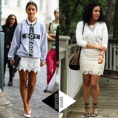 Fall Outfit Idea: Sweatshirt + Lace Skirt | The Fashionista Next Door