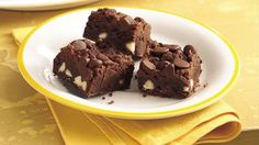Chocolate chips, cocoa and white chocolate chips marry for a chocolate lover's dream bar.
