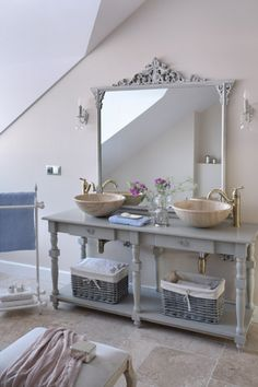 The mirror! Provencal Style Home in Poland | Lovely Clusters - http://www.lovelyclustersblog.com