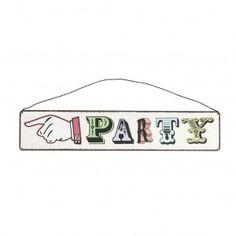 Señal metálica party