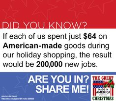 Buy Local for the holidays. Buy American-made.