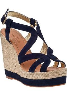 Kate Spade - Liv Wedge Espadrille Navy Suede