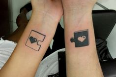 35 Matching Puzzle Piece Tattoos You Have to See