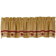 Primitive Star Vine Cotton Burlap Country Valance ** Learn more by visiting the image link. (This is an affiliate link) #WindowTreatments