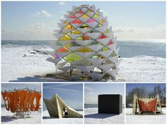 5 playfully interactive 'Warming Huts' transformed Toronto's waterfront into a wintertime hub