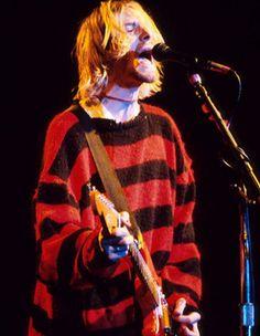striped sweater/kurt cobain #90s #fashion