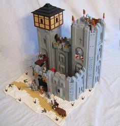 SnowLion Keep  by LegoLord., via Flickr