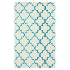 Hand-tufted wool-blend rug with a Moroccan-inspired motif.  Product: RugConstruction Material: Wool and viscose