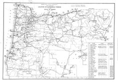 Oregon State Highway Department map showing location of automobile ferries in the state of Oregon, March 1, 1935, by the Oregon State Highway Department