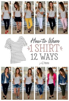 How To Wear 1 Striped Shirt In 12 Different Styles! So cheap and convenient! #cheap #convenient #different #shirt #striped #styles #wear...