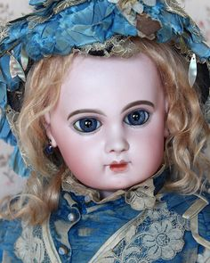 DEPOSE E.J. size 12 輝くばかりのサファイアの様な子✨ #アンティークドール #ビスクドール #ジュモー #antiquedoll #jumeau - belledusoir1219