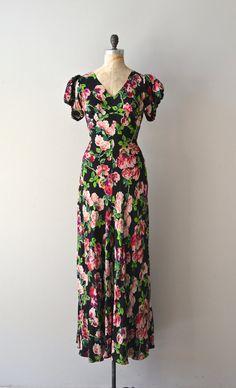 Floradora Girl dress / 1930s silk floral dress / by DearGolden