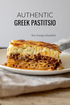 Authentic Greek pastitsio (Greek lasagna) Layers of cinnamon-tomato ground beef ragu, kasseri cheese, noodles and béchamel The post Pastitsio (Greek Lasagna) appeared first on Woman Casual - Food and drink Pasta Recipes, Dessert Recipes, Cooking Recipes, Lasagna Recipes, Lasagna Food, Cheese Lasagna, Chicken Recipes, 7 Layer Lasagna Recipe, Al Dente