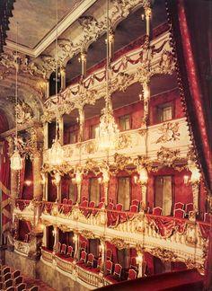 Cuvilliés Theatre, Munich  (via VINTAGESONIA)