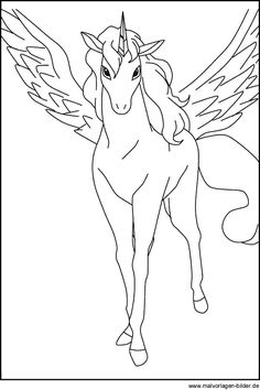 Pegasus - Ausmalbild