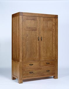 Santana Reclaimed Oak Double Wardrobe With 3 Drawers Solid Oak Wardrobe, Single Wardrobe, Double Wardrobe, Solid Oak Furniture, Dining Furniture, Bedroom Furniture, Timber Furniture, Veneer Panels, Selling Furniture