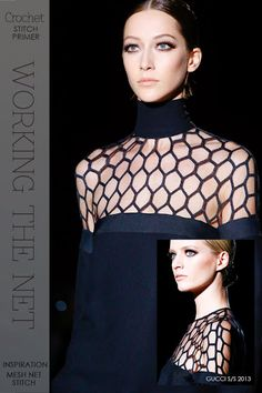Stitch primer, sheer crochet | get all kinds of variations on the mesh stitch, great for summer tops | free patterns featuring the mesh net stitches