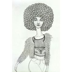 I hope you are keeping it sassy out there! 👸💅 #illustration #dotwork #kween #afro #poc