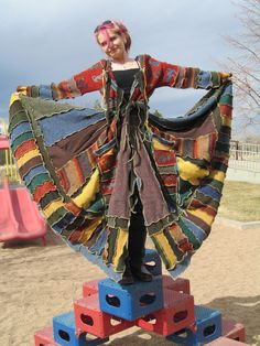 Katwise Inspired Upcycled Sweater Coat Whimsical by FunAndFunky13, $499.00