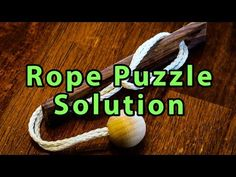 This puzzle is similar to the other puzzles I posted over the last year. The goal is to remove the rope/ball from the piece of wood. With very little parts, it… Puzzle Box, Puzzle Ring, Mind Puzzles, Mind Benders, Cut The Ropes, Wood Games, How To Make Toys, Wooden Puzzles, Brain Teasers