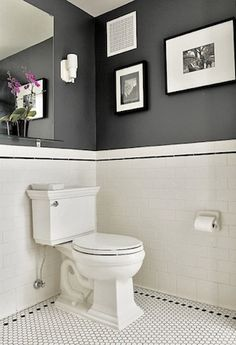 Bathroom Wall Color For Guest Bath Black White