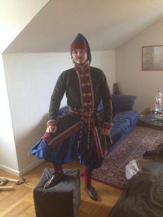 Viking Tent, Viking Garb, Viking Reenactment, Norse Clothing, Medieval Clothing, Medieval Fashion, Fantasy Costumes, Byzantine, Kaftan