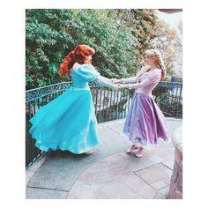 wandering free! Ariel and Rapunzel