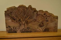 Pyrography Gallery - Woodcraft by Jim Brown Pyrography by Gail Duncan