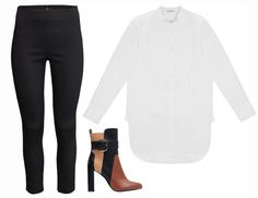 Later: Pair your tunic with a kicky black pant and multicolored boots for a fall-ready look.