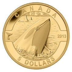 Royal Canadian Mint $5 2013 Pure Gold Coin - O Canada Series - Orca $279.95