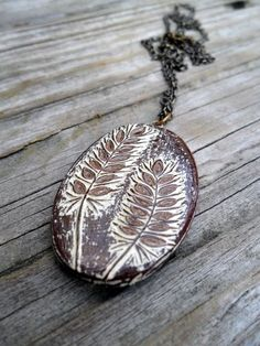 Cream and Brown Wheat Necklace Harvest by blockpartypress on Etsy
