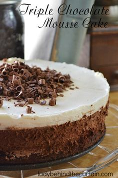 Triple Chocolate Mousse Cake | THREE LAYERS OF CHOCOLATE! This is the best…