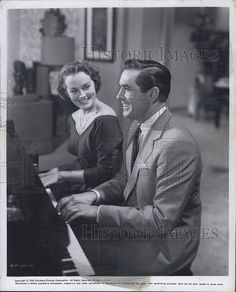 Tyrone Power and Victoria Shaw in The Eddy Duchin Story