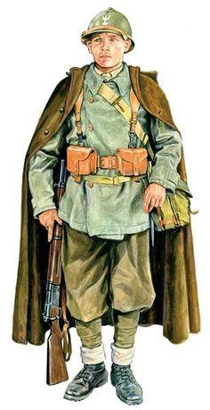 Polish Soldier Pin by Paolo Marzioli Military Gear, Military Police, Military History, Soldado Universal, Ww2 Uniforms, Military Uniforms, Military Drawings, Army Uniform, French Army