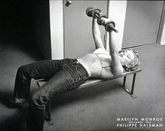 Marilyn Monroe: lifted weights and ate protein; best pin-up girl EVER.