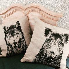 Frohstoff Kissen Wolf Keiler Siebdruck handmade Hamburg