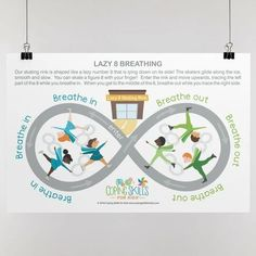 """Playful Lazy Eight Deep Breathing Poster 11"""" x 17"""" Anger Coping Skills, Coping Strategies For Stress, Coping With Stress, Breath In Breath Out, Deep Breath, Dealing With Anger, How To Handle Stress, Deal With Anxiety, Social Emotional Learning"""