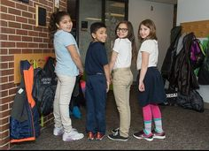 Students at Morgridge Academy show their spirit at the last day of Spirit Week -- Backwards Day!