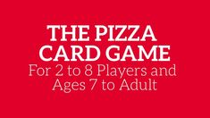Video for a Pizza Card Game called Pizza Game Dot Com. For playing card enthusiasts, the pics make you crave pizza while trying to be the first player to build a pizza with various toppings.