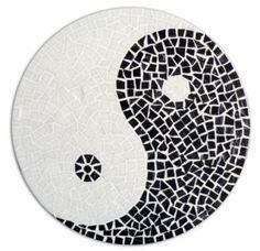 Bidule mosaique creation et objets de decoration en for Deco yin yang