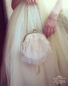 Моя самая любимая, нежная сумочка Crem brule #сумкасфермуаром #сумочкадляневесты #свадебнаясумочка #нежность #невеста #ручнаяработа #handmade #fashion #style