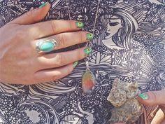 #Drusy #Bohemian #Boho #Fashion #Hipster #Indie #Aztec #rainbow #Duse #Druzy