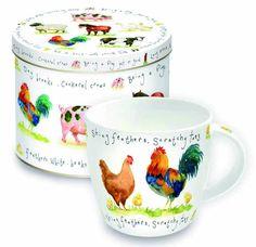 Porcelanowy kubek w blaszanym pudełku Tea Cups, Mugs, Tableware, Gifts, Porcelain Ceramics, Dinnerware, Presents, Tumblers, Dishes