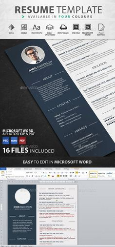 Creative John Doe Cv Template Design  Creative Resume Templates