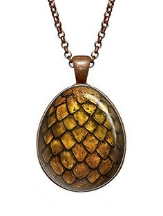 Gold Dragon Egg Jewelry, The Hobbit Jewelry, Smaug Egg, Game of Thrones Necklace, Geek Pendant, Girl Gift, Birthday Gifts, khaleesi, Daenerys Targaryen