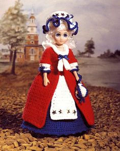 Betsy Ross doll crochet project