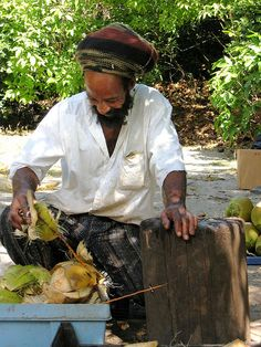 "Selling Coconuts, Bahamas - ""What can I get for my Island Candy??"" said every vendor to every tourist female!"