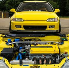 Yellow could never look better Ek Hatch, Civic Eg, Honda Civic Hatchback, Reliable Cars, Car Audio, Car Pictures, Jdm, Automobile, Yellow